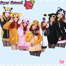 HKSNG Spring Women Unicorn Stitch Panda Cat Rilakkuma Wolf Tiger Dinosaur Owl Pokemon Hoodies Animal Cartoon Coat Sweatshirts
