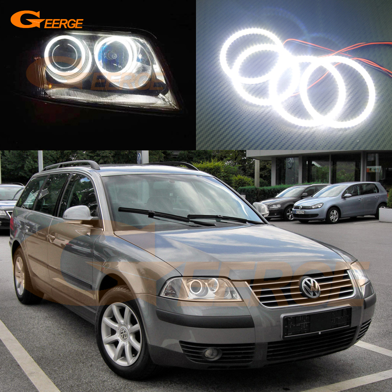 For Volkswagen VW Passat B5.5 3BG 2001 2002 2003 2004 2005 Excellent Ultra bright illumination smd led Angel Eyes Halo Ring kit for alfa romeo 147 2000 2001 2002 2003 2004 halogen headlight excellent ultra bright illumination ccfl angel eyes kit halo ring