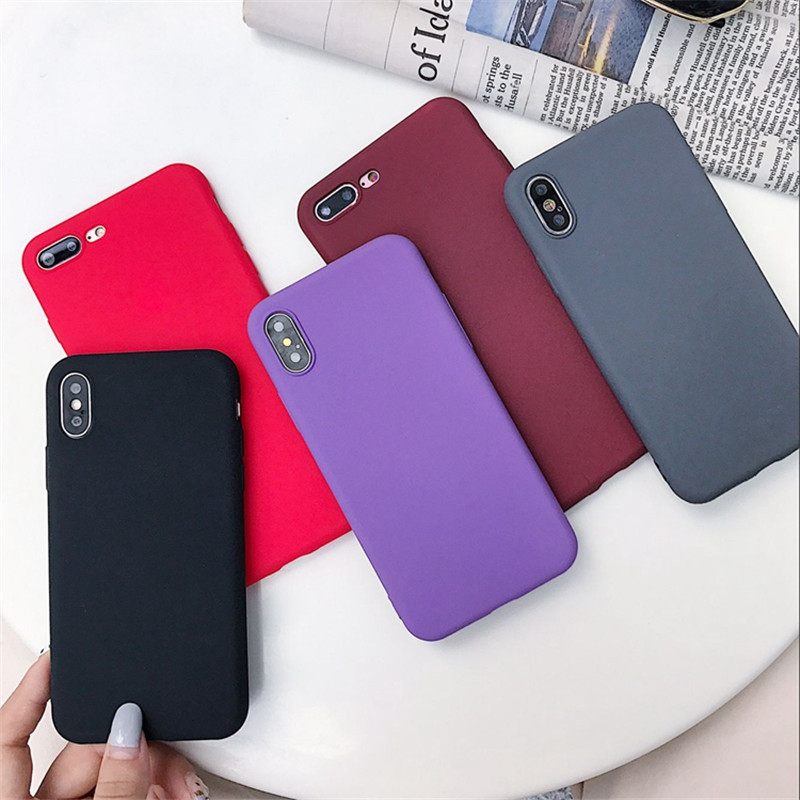 Image 2 - Matte Solid Color Cover Phone Case For Samsung Galaxy A10 A30 A40 A60 A70 M10 M20 M30 S8 S9 S10 Plus Lite Note 9 Soft Back Funda-in Fitted Cases from Cellphones & Telecommunications