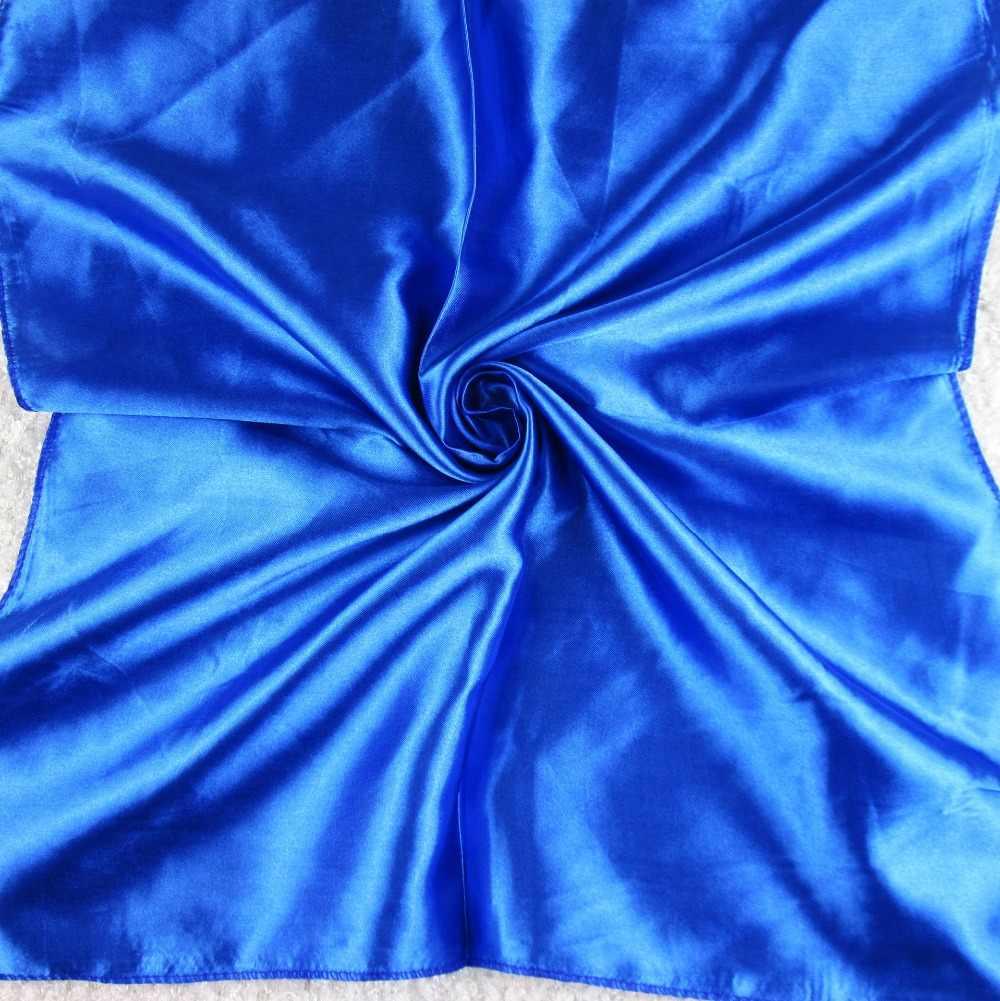 50X50CM moda mujer sólida bufanda cuadrada falso seda envolturas elegante Floral Primavera Verano cabeza cuello pelo corbata banda pañuelo