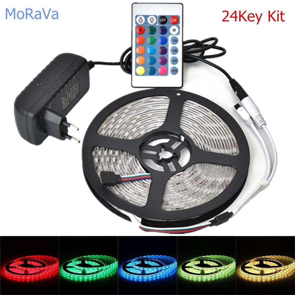 1 M 5 M 10 M 12 V 5050 RGB LED bande IR RF sans fil wifi LED ruban ruban pour chambre cuisine TV ordinateur décoration + ue US Power