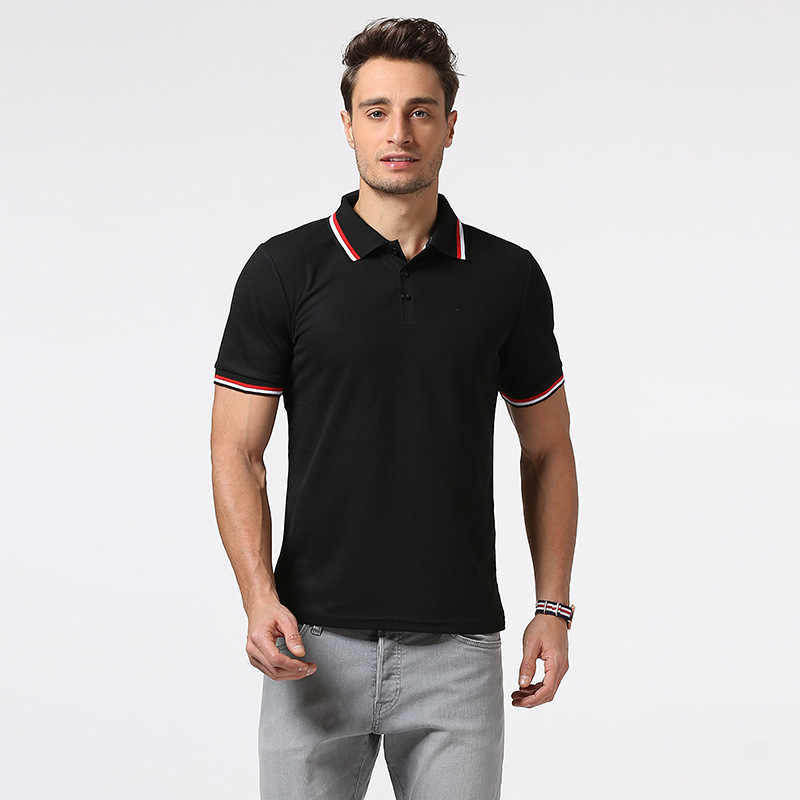 Men stitching embroidery printed Polo shirt men's Polo shirts with short sleeves of leisure fitness man