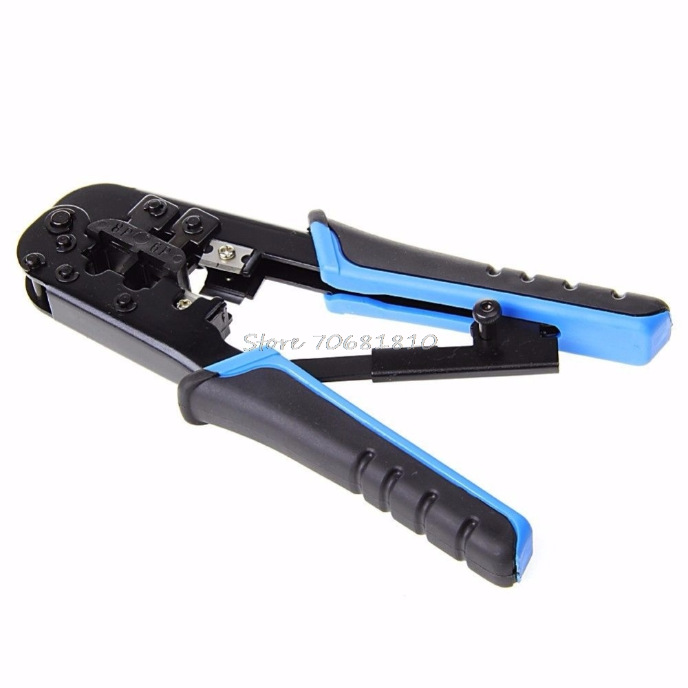 Dual Modular  Cable Crimping Tool Wire Cutter Stripping Kit RJ45 RJ12 Drop Shipping
