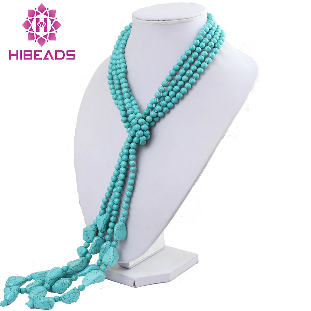 Free Shipping Fashion 4 Strands Stone Necklace Pendants Long Necklace New Arrival Hot Sale Wholesale&Retail TN058