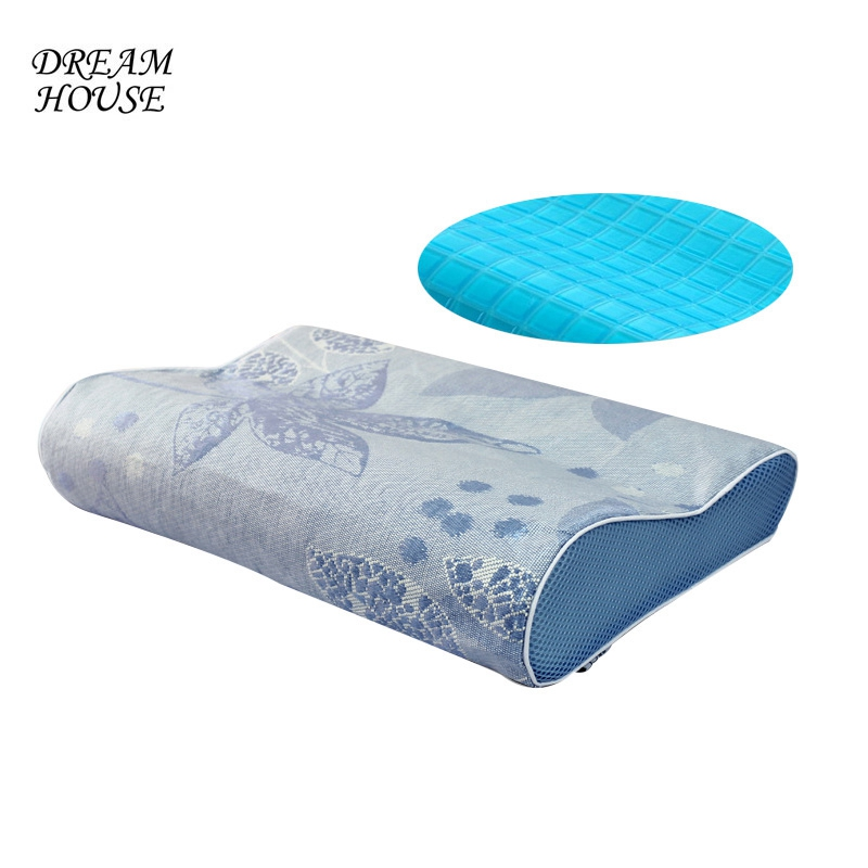 Massager Memory Foam Pillows Summer Cool Gel Pillows Help Sleeping Comfortable Pad Removable Pillow Core Bedding Home Textile