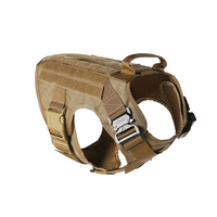 Tactical Military 1000D Nylon Molle System Dog Training Dog Harness Hunting Vest Police K9 Clothes Load