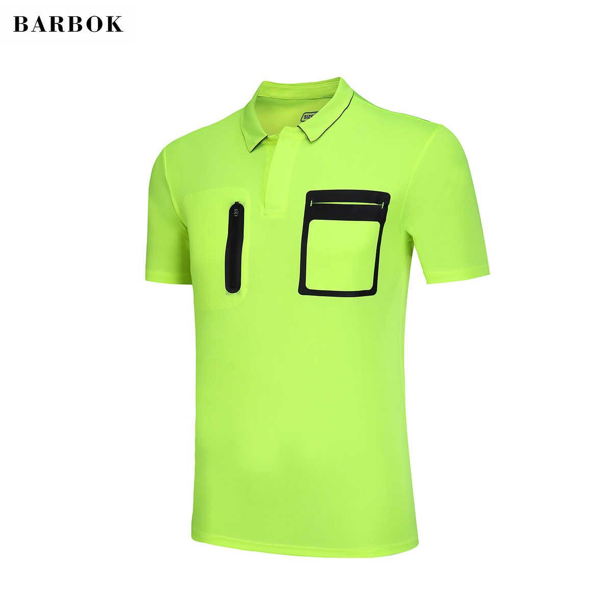 BARBOK Referee Shirt Men s Gym Fitness T-shirt Quick Dry Short Sleeve  Running Soccer Football 29b9ac9dc