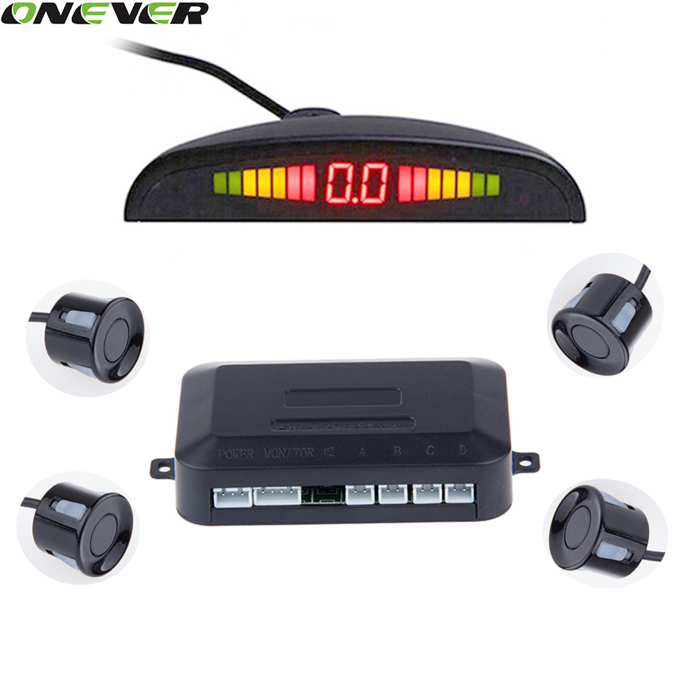 Авто парктроник светодиодный парковка Сенсор с 4 Датчики обратный резервный радар парковки Мониторы детектор Системы Подсветка Дисплей