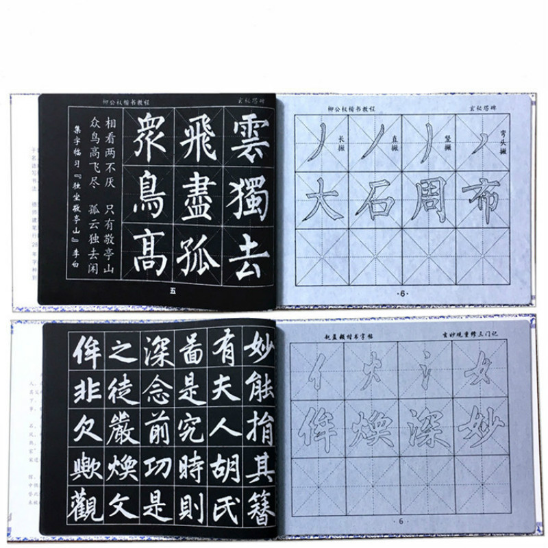 Chinese Traditional Calligraphy Pen Regular Script Writing Brushes Copybook Water writing cloth set Student-specific Brush