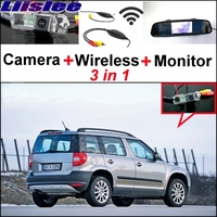 3 In1 Special Rear View Camera Wireless Receiver Mirror Monitor DIY Back Up Parking System For