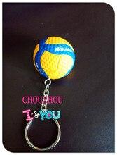 10 יח\חבילה חדש כדורעף Keychain כדור מפתח מחזיק כדורעף מתנות מפתח כיסוי אוטומטי רכב Keyring מתנה רבים צבע עבור ספורט צוות