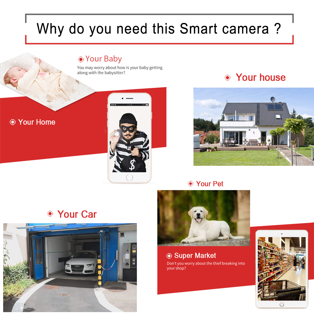 Image 5 - Ip Camera Wifi 1080P 960P 720P Cctv Surveillance Video Security Wireless Audio IPCam Indoor Wired Cam Infrared Home Dome Camera-in Surveillance Cameras from Security & Protection