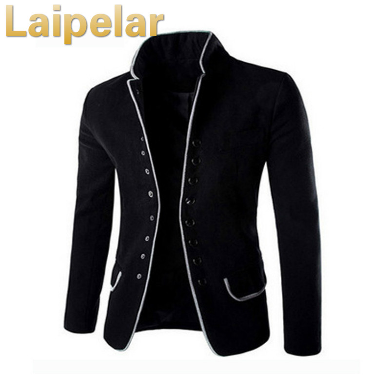New Autumn Winter Casual Men Blazer Coat Cotton Slim Fit High Quality Luxury Blazer Male 2018 Fashion Brand Blazer Men Suits