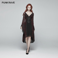 PUNK RAVE Women Gothic Lace Dresses Goddess Victorian Classical Gorgeous Fashion Dress Casual Sexy Women Evening Party Dress