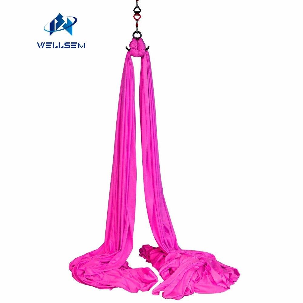 9 mètres Soies Aériennes Équipement Anti-gravité Yoga Hamac Swing De Yoga pour Gymnastique Acrobatique Air Vol Danse Performance