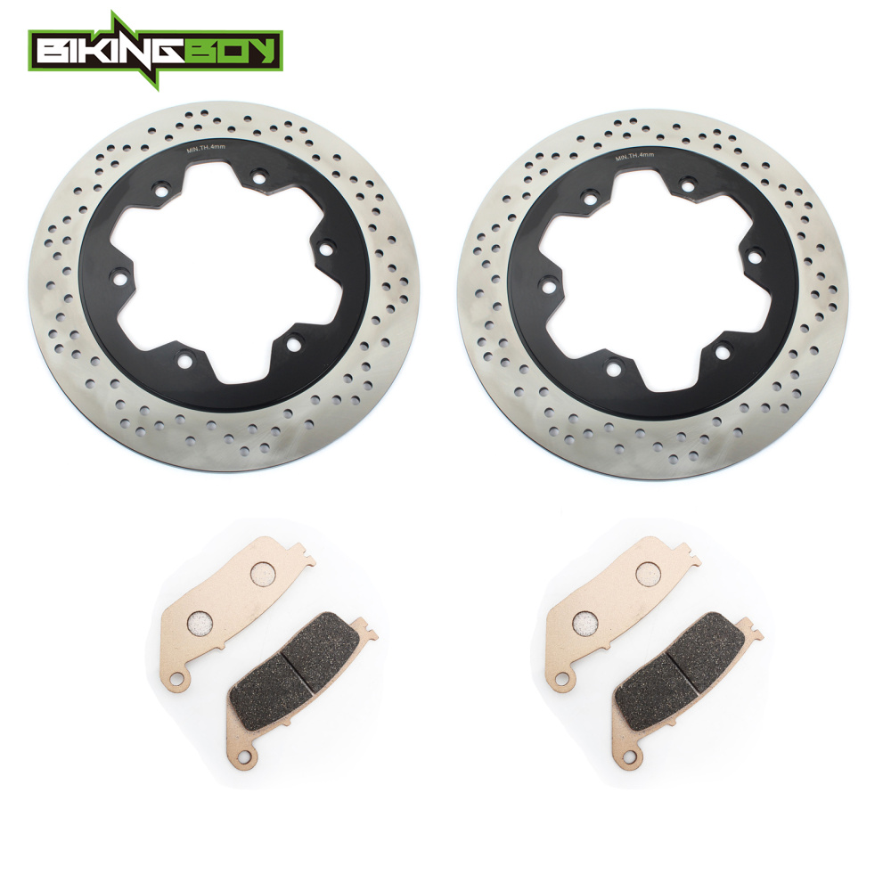 US $170 96 17% OFF|BIKINGBOY Front Brake Disk Disc Rotor Pads Round Set for  Triumph Thunderbird Sport 885 98 03 Tiger 955icc 2001 2002 2003 2004-in