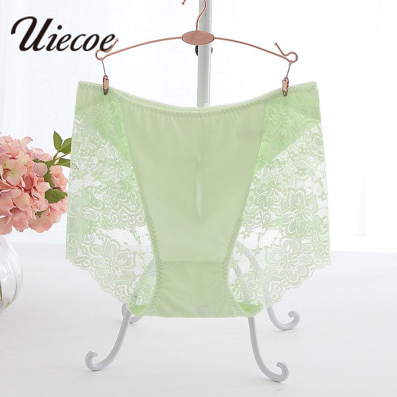 UIECOE Panties Plus Size 4XL-5XL Women Underwear Lace Panties Breathable Seamless Big Size Slimming Lingerie Briefs For Ladies