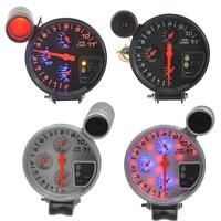 New 4 IN 1 car Mdified Water temperature gauge Oil temp gauge Oil pressure gauge Tachometer With sensors Auto Racing modified