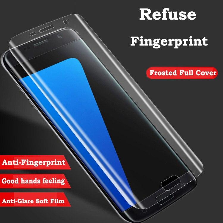 ddd7ae06eda 3D curvada de la cubierta completa de Protector de pantalla para Samsung  Galaxy S7 borde S6 S8 más A3 A5 A7 2017 TPU película (no vidrio templado)