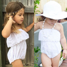2017 New Arrival Infant Newborn Baby Girls Sexy Sleeves Cute Lace Romper High Quality Baby Jumpsuit Toddler Clothing