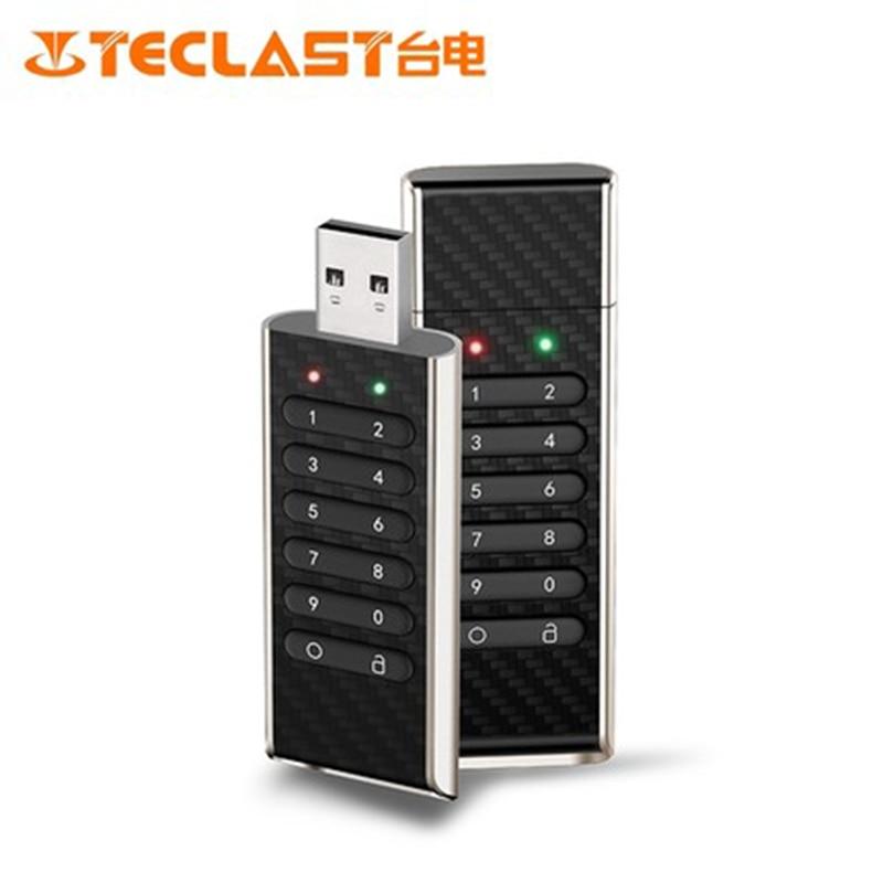 Teclast NKE 32 GB/64 GB cryptage Smart USB clés Flash matériel cryptage bouclier clés numériques pour protéger la sécurité des données noir
