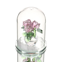 H&D Beauty Crystal Rose in Terrarium Pendant Valentines Day,Fairy Tale Crystal Souvenir Gifts Home Decor Lover's Gift Sales