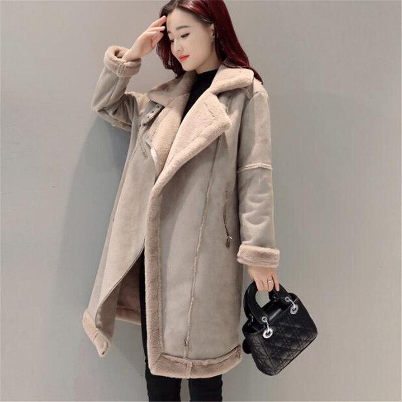 Winter Large Size Thick Warm Suede Parka Female Fashion Long Coat Jacket Women High Quality Overcoat Winter Jacket TT3153
