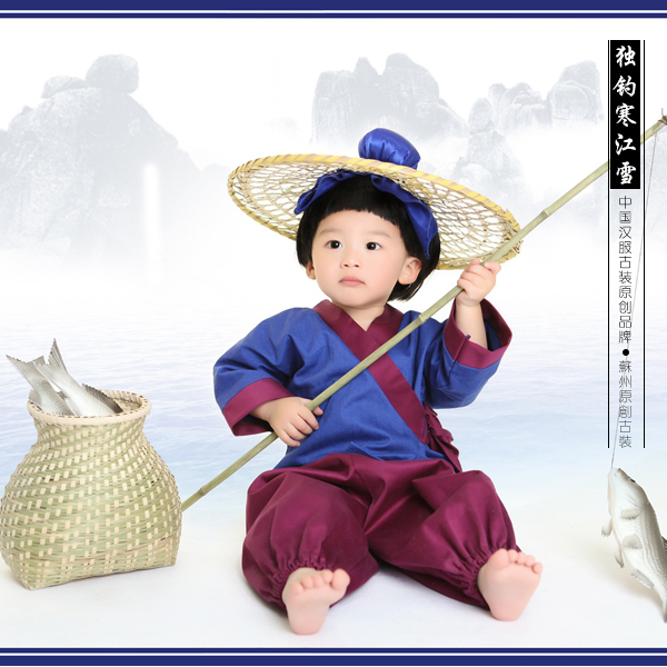 Fishing in Snowy River Alone Baby Boy Fishermanu0027s Costume Ancient Chinese Poem or Story Thematic Costume  sc 1 st  AliExpress.com & Fishing in Snowy River Alone Baby Boy Fishermanu0027s Costume Ancient ...