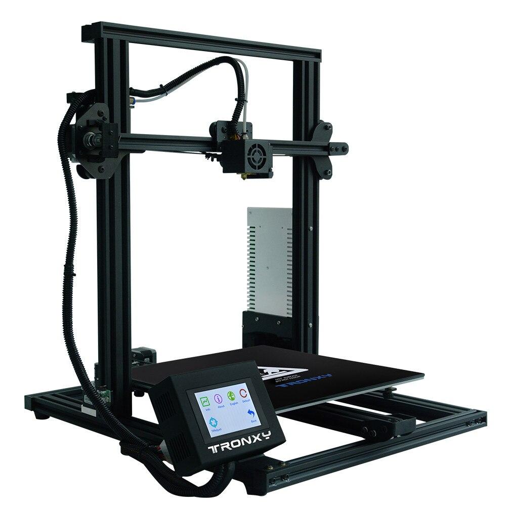 TRONXY imprimante 3D XY-3 Kit imprimante 3D grande taille I3 310*310 Hotbed v-slot reprendre la panne de courant impression FDM impression 3D Drucker