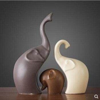 Cerâmico cervos e elefantes e coelhos, criativo estilo nórdico estatuetas animais e artesanato mobiliário, presentes de casamento