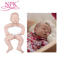 NPK 19INCH Export Quality Doll Kits For Silicone Reborn Baby Dolls Whole Silicone Vinyl Doll Kits For DIY 48cm Reborn Doll Toys