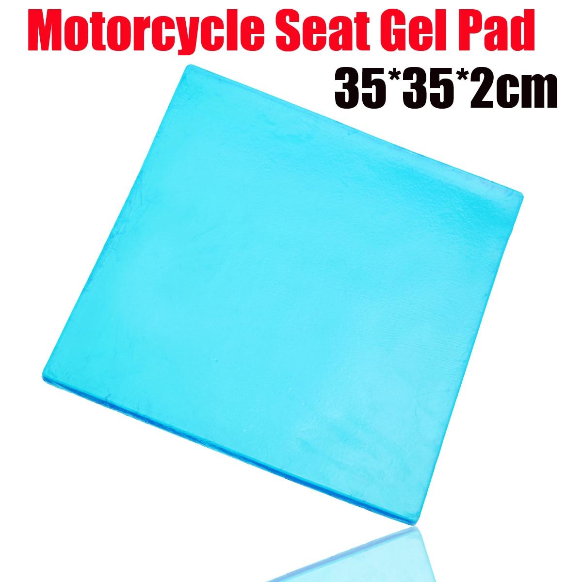 Nouveau bricolage modifié 2 cm épaisseur amortissement Silicone Gel Pad moto siège coussin confortable tapis d'absorption des chocs tapis 35x35 cm