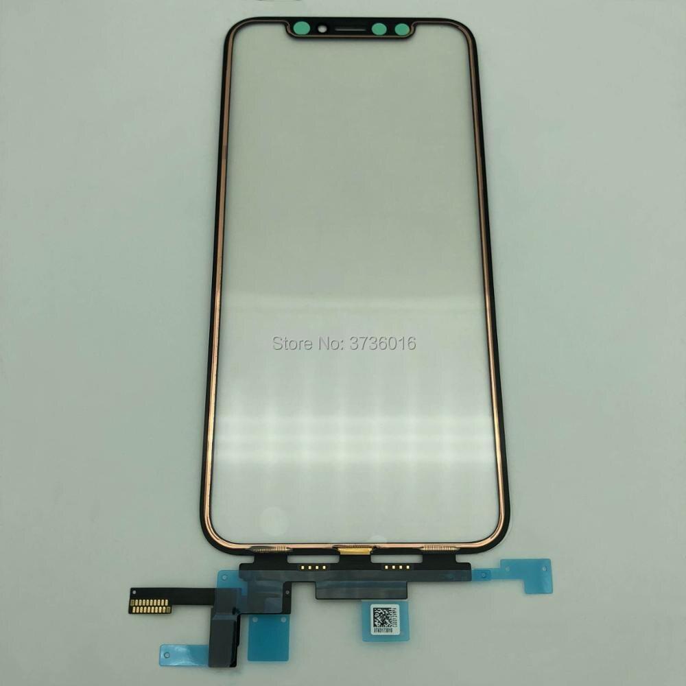 Для iPhone X Лидер продаж оригинальное качество ЖК дисплей Переднее стекло сенсорного экрана панель со шлейфом работы для ios 12,1