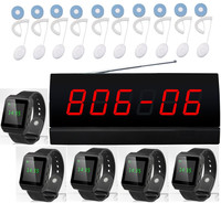 Nurse call system,patients/old men call nurse,10pcs hand wire patient call bell + 1pc LED screen+5pcs watch pager,singcall pager