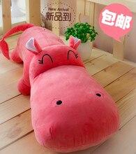 Hippopotami pillow doll plush toy 95cm Large dolls sleeping pillow cloth doll birthday gift female