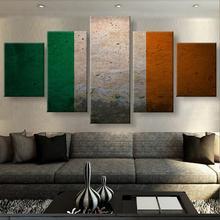 HD Print 5 Piece Canvas Art Irish Pride Flag Modern Decorative Paintings on Wall for Home Decorations Decor