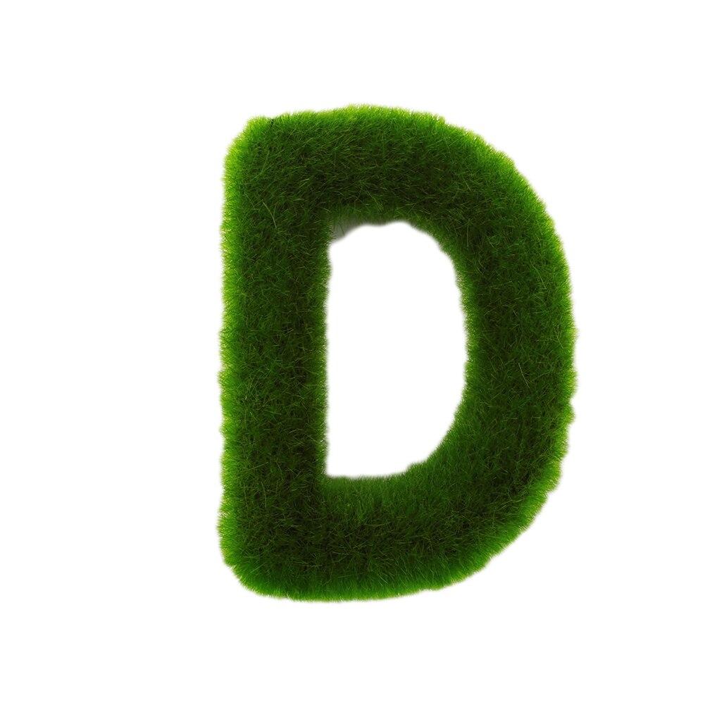 Буквенные предметы интерьера искусственный газон письмо искусственный газон украшение 26 слов ремесленный дом окно креативный - Цвет: D
