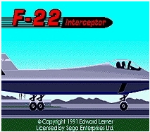 F-22 Interceptor - 16 bit MD Games Cartridge For MegaDrive Genesis console