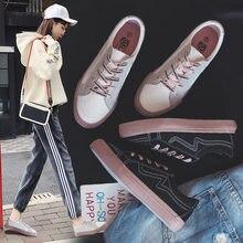 d538afb79ac2 Canvas Shoe For Women Schoolgirl Version Flat Bottom Plate Shoes Breathable White  Shoes Skateboarding Vogue Women