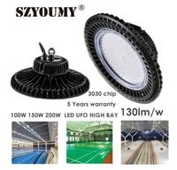 Szyoumy led 높은 베이 ufo 빛 200 w 검은 원형 램프 빛 창 고 슈퍼마켓 100 277 v 오버 헤드 lumina 5 년 보증|투광 조명등|   -