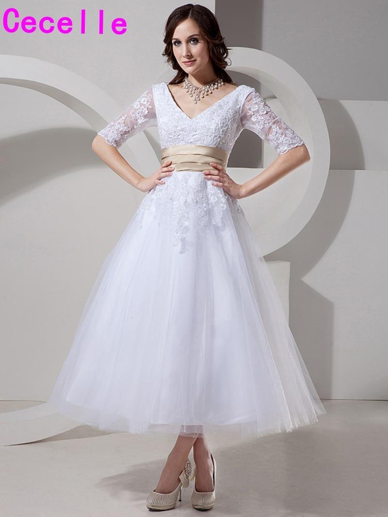 Robe De Mariage White Lace Short Wedding Dresses 2018 Sexy A Line ...