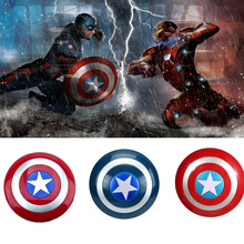 цена Voice flash Shield For Captain America Costume props with LED light Carnival Purim Children Captain America Shield Cosplay props онлайн в 2017 году