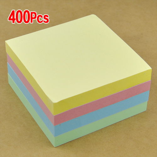 SOSW-400 pcs NEON Remove Sticky Post It Notes 76mm x 76mm 3 x 3 Free P&P