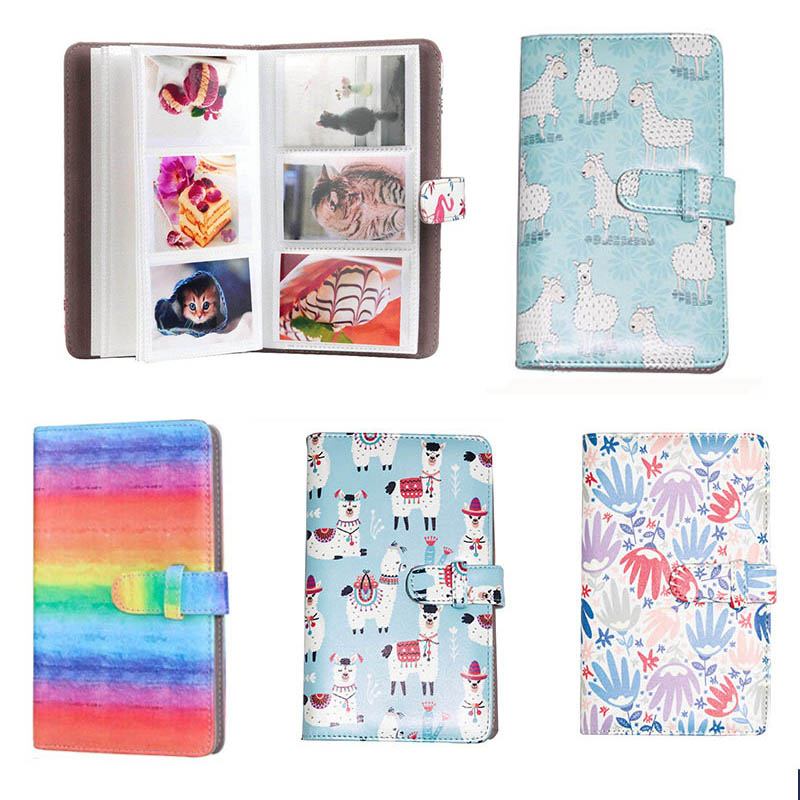 Name Card Support 3 Inch 19*11.5cm Memory Book Craft PU Cover Large Capacity Photo Album 108 Pockets DIY Insert Picture image