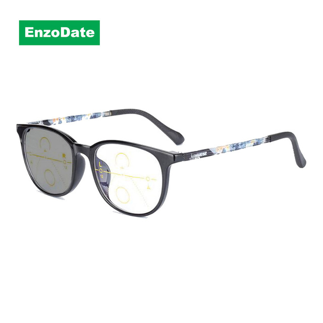 87f5c27f6d Transition Photochromic Progressive Reading Glasses Anti Blue Ray Computer  Reader Multi Focus No Line Gradual UV400