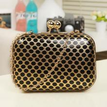 Polk a dots evening bag for dinner fashion high quality PU leather bag shoulder chain women bag