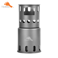 TOAKS Titanium Backpacking Wood Burning Stove Small Outdoor Titanium Cooking System