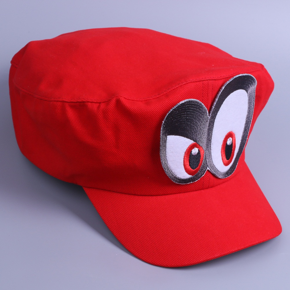Game Super Mario Odyssey Cap Cosplay Red Mario Hat Adult Kids Anime Handmade New4