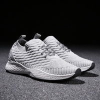 Breathable Men Sneakers Male Shoes Adult Red Black Gray High Quality Comfortable Non slip Soft Mesh Men Shoes 2018 Summer New