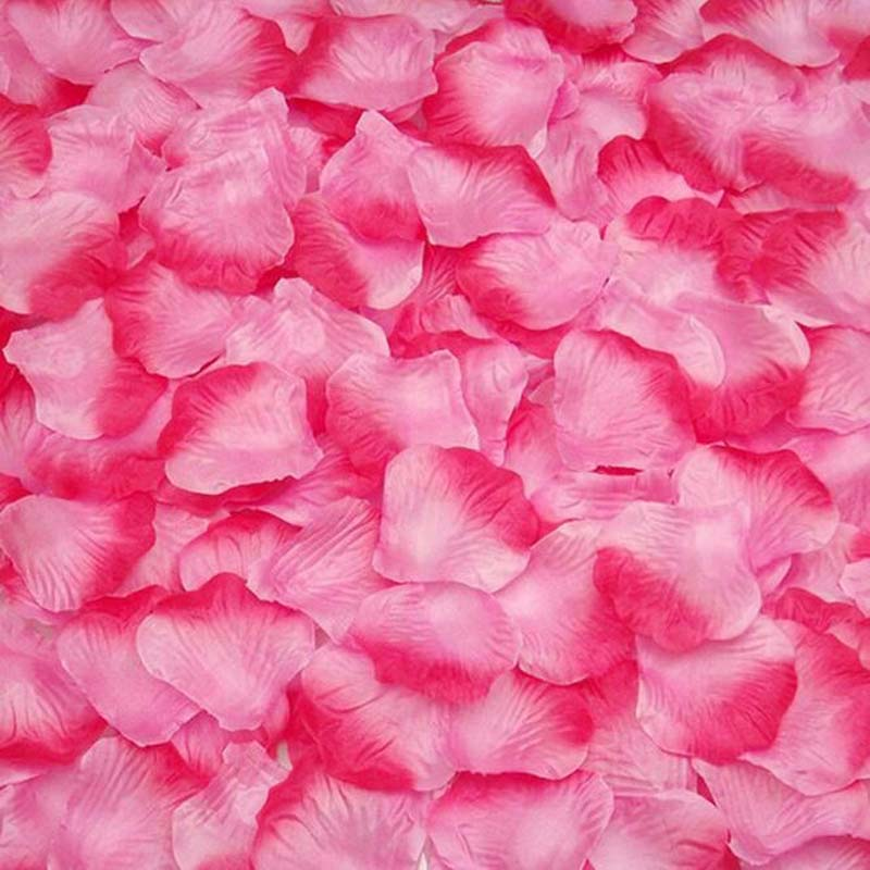 Nice Top Quality 100pcs Silk Rose Flower Petals Leaves Wedding Decorations Party Festival Table Confetti Decor Artificial Decorations